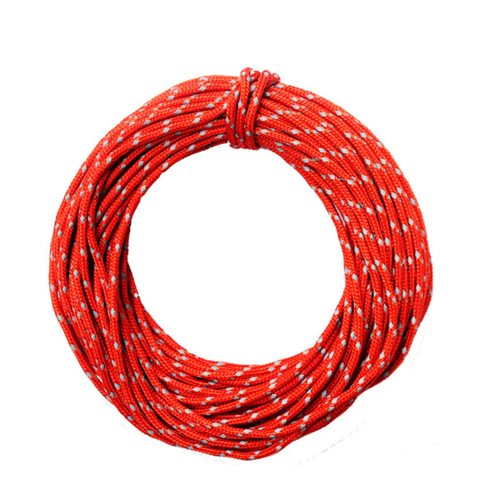 Wholesale 2.5mm/15m Outdoor Camping Multifunction Reflective Tent Wind Rope Core Red
