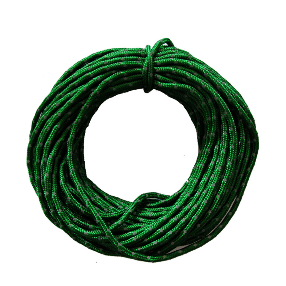 Wholesale 2.5mm/15m Outdoor CampingMultifunction Reflective Tent Wind Rope Core Green