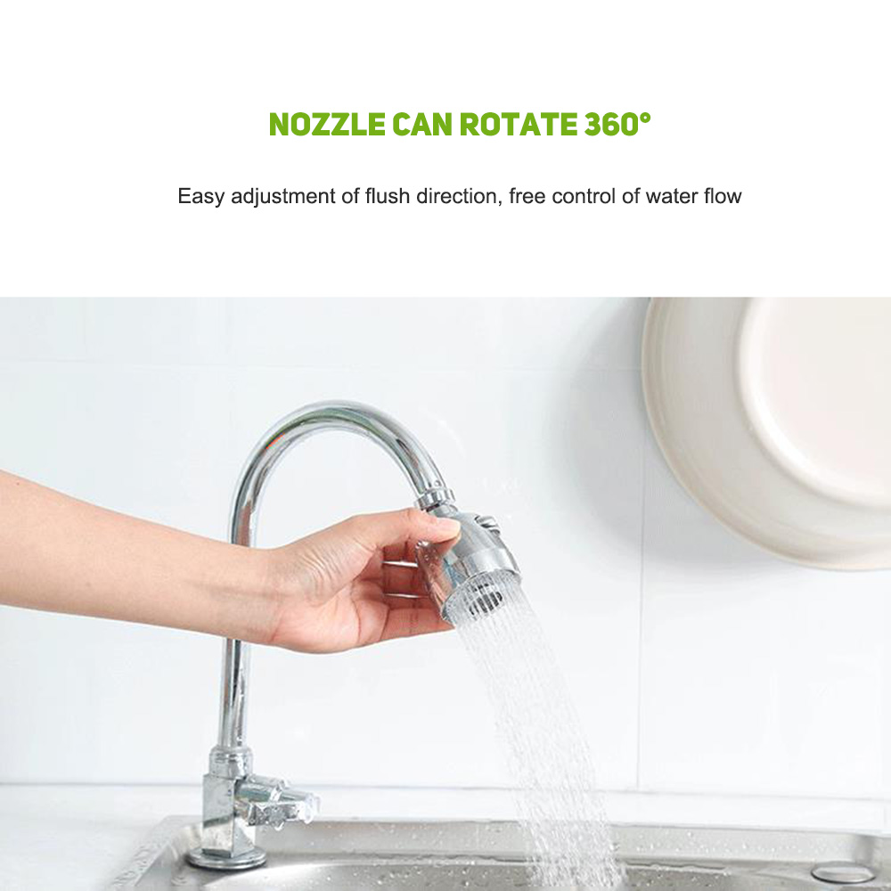 Wholesale 360°Rotate Extended Bathroom Faucet Nozzle Water Saving Shower Head Filter