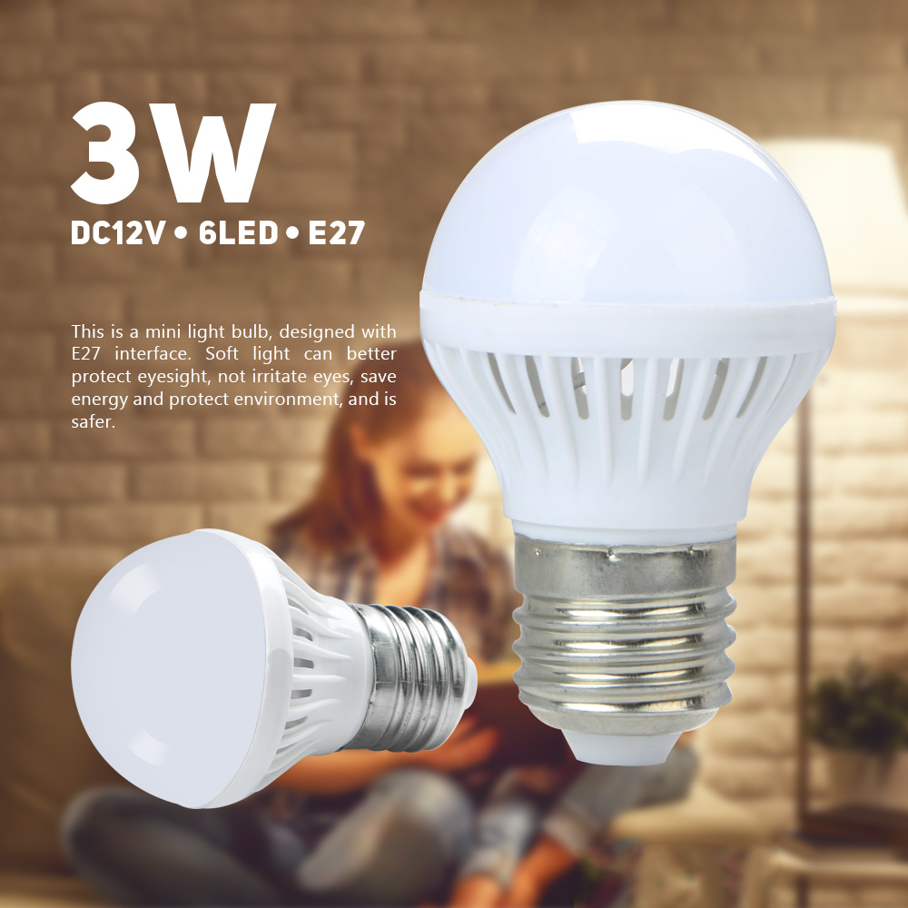 DC12V 3W 5730SMD 6Led Mini Super Bright Energy Saving Light Lamp Globe Bulb