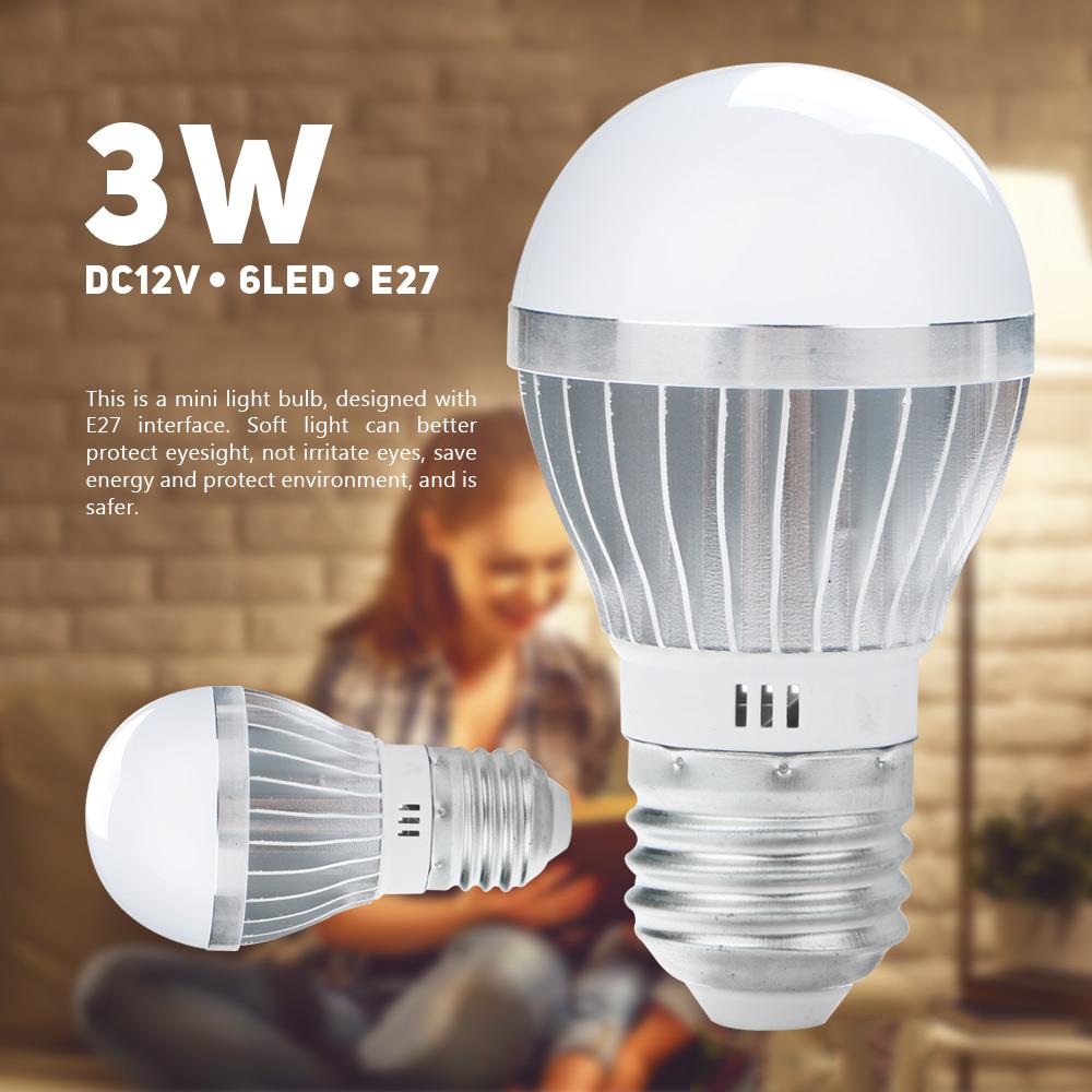 DC12V 3W 5730SMD 6Led Aluminum SuperBright EnergySaving Light LampGlobeBulb