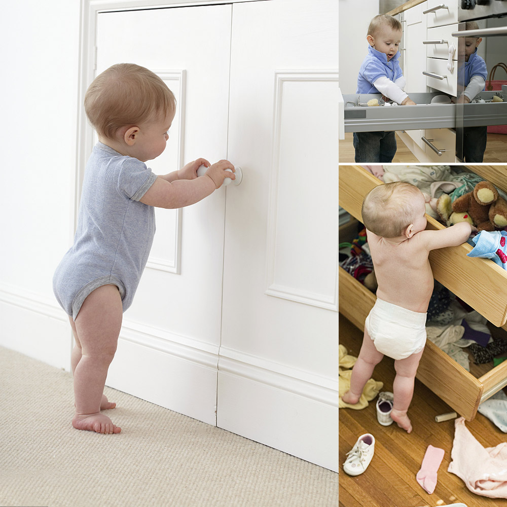 10pcs Spring Safety Invisible Cupboard Lock Baby Child Pet Proof Drawer Security 8