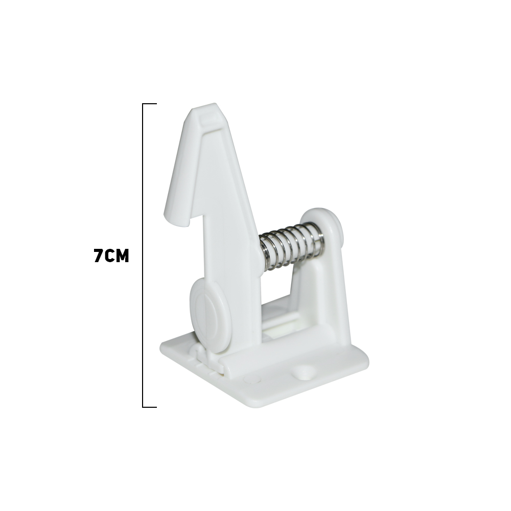 10pcs Spring Safety Invisible Cupboard Lock Baby Child Pet Proof Drawer Security 7