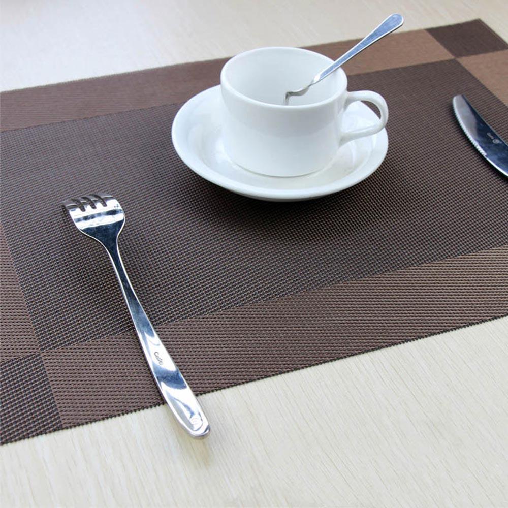 4pc Square PVC Non-slip Heat Insulation Placemat Reusable Table Mat Pad