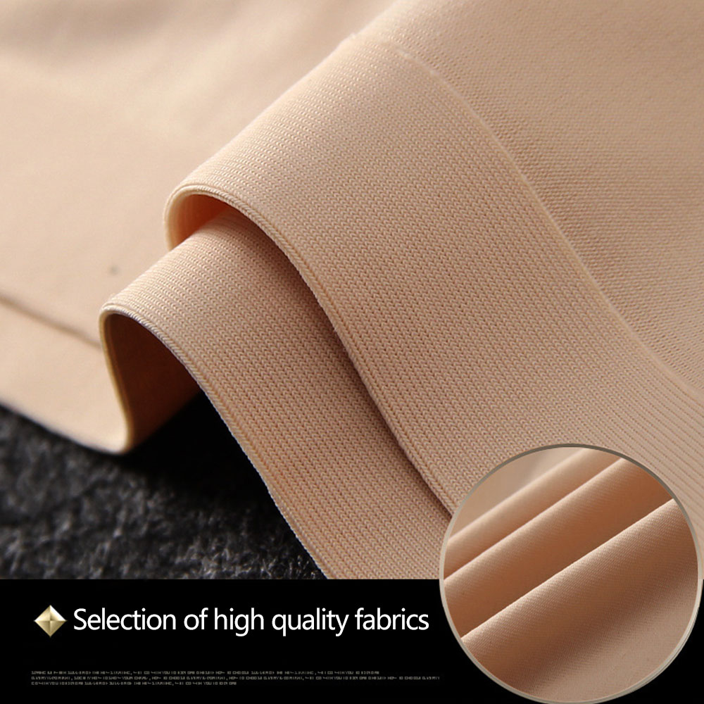 Women Girl Seamless Ice Silk Cozy Breathable Underwear Solid Pants