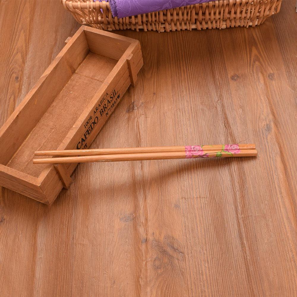 10Pair Reusable Eco-friendly Chopsticks Dinner Tableware Set W/5Pair Spiral