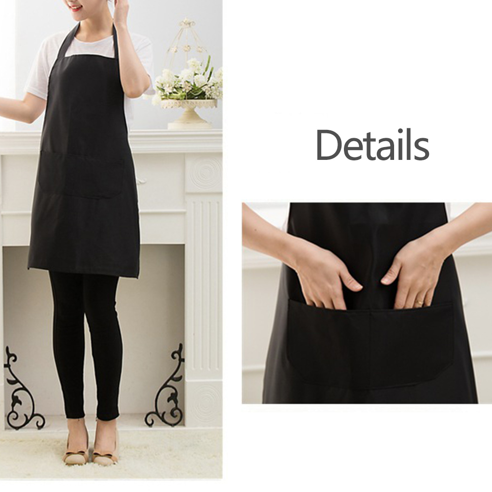 Plain Apron W/Front Pocket For Chef Butcher Kitchen Cooking Baking BBQ