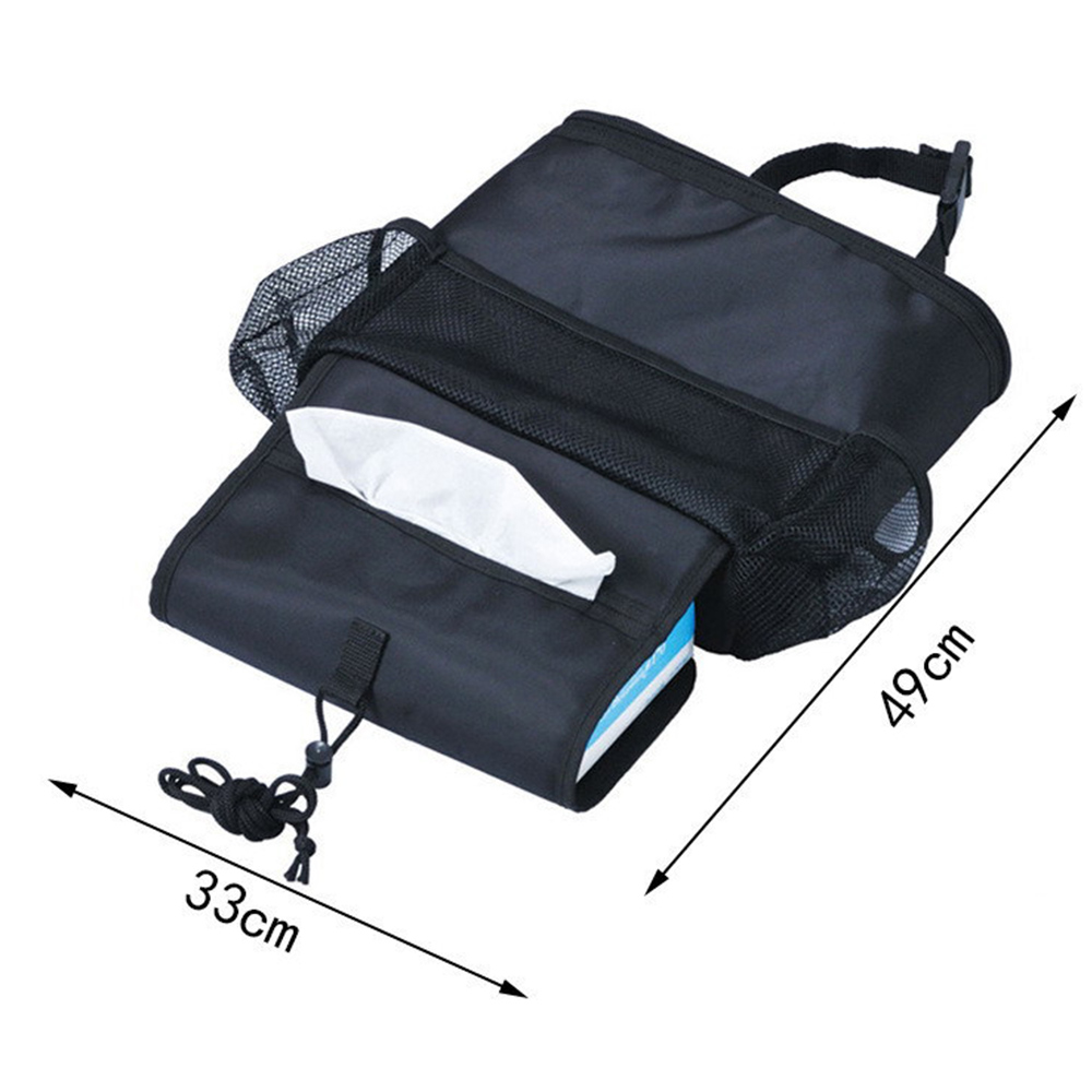 Car Back Seat Multi-pocket Cooler Insulated TravelStorageBag TidyOrganizer