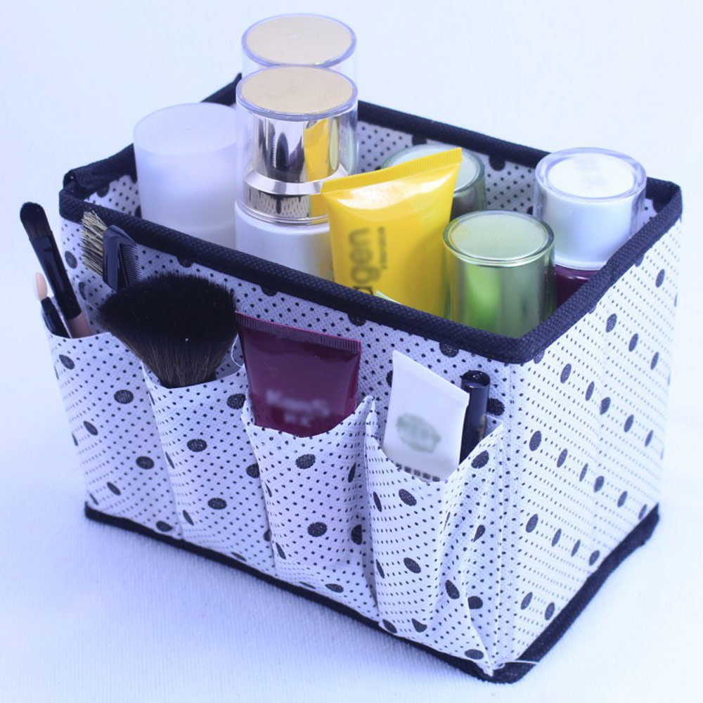 Multifunction Foldable Makeup Cosmic Storage Box Case Organizer W/4Pocket