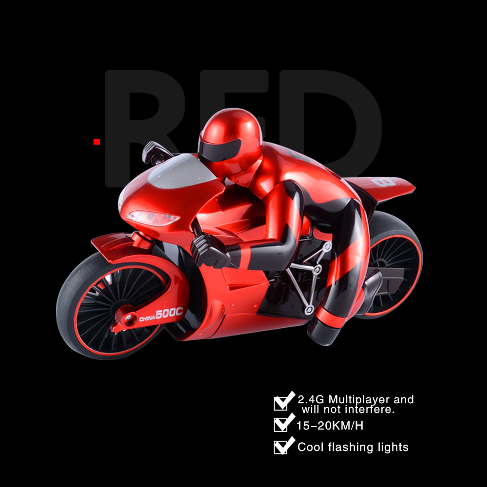Wholesale CSRC-22 2.4GHz High Spped Drift RC Remote Control Motorbike Toy Gift Red