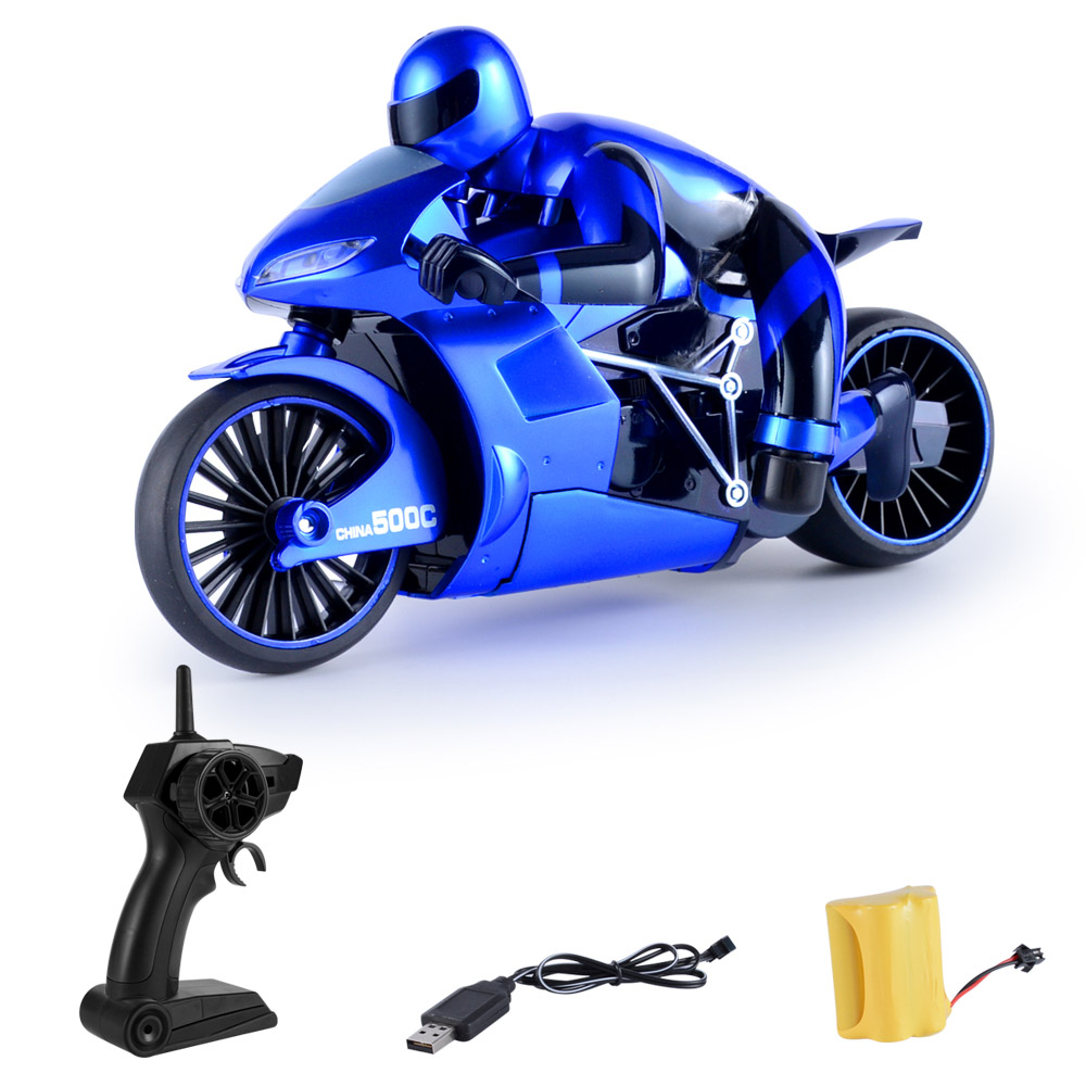 Wholesale CSRC-22 2.4GHz High Spped Drift RC Remote Control Motorbike Toy Gift Blue