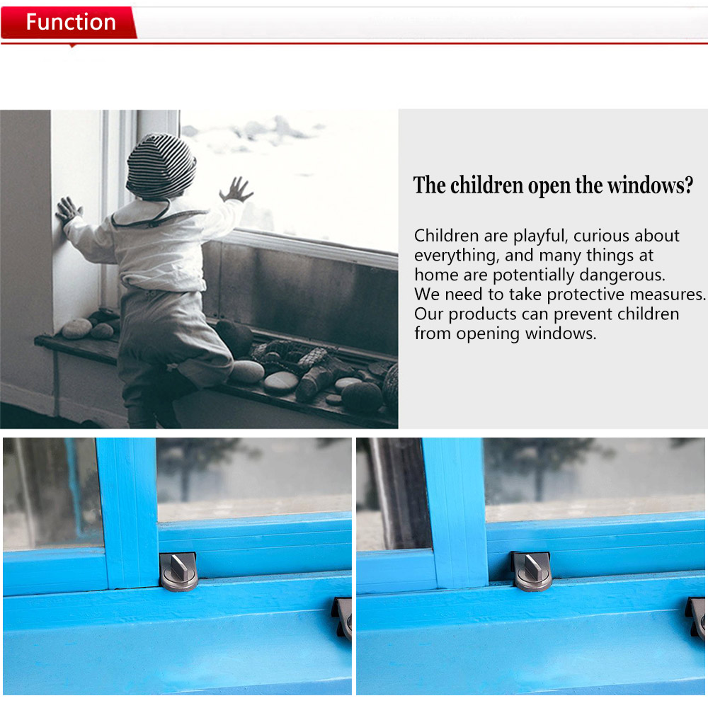 New Kids Cabinet Safety Lock Security Stopper Baby Sliding Window Locking System 7