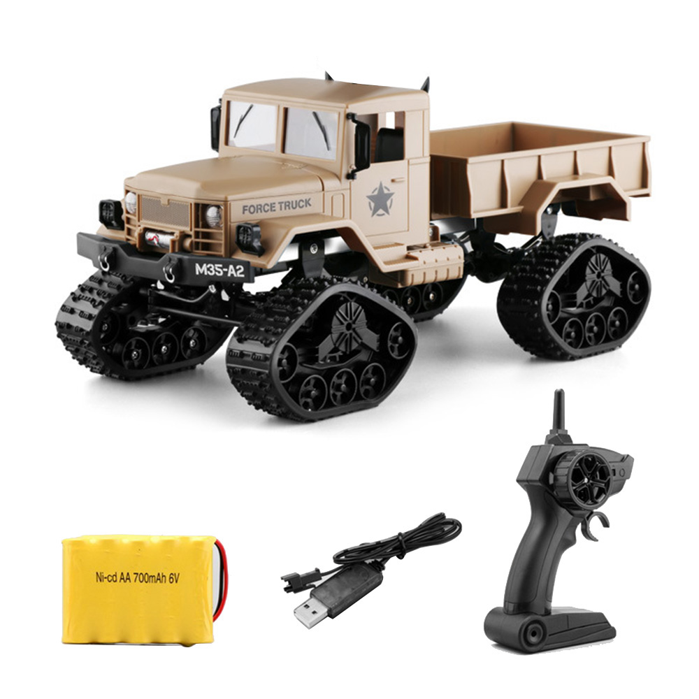 FY001B RC Remote Control 2.4G Snow Road Car Military Tactical Truck Toy