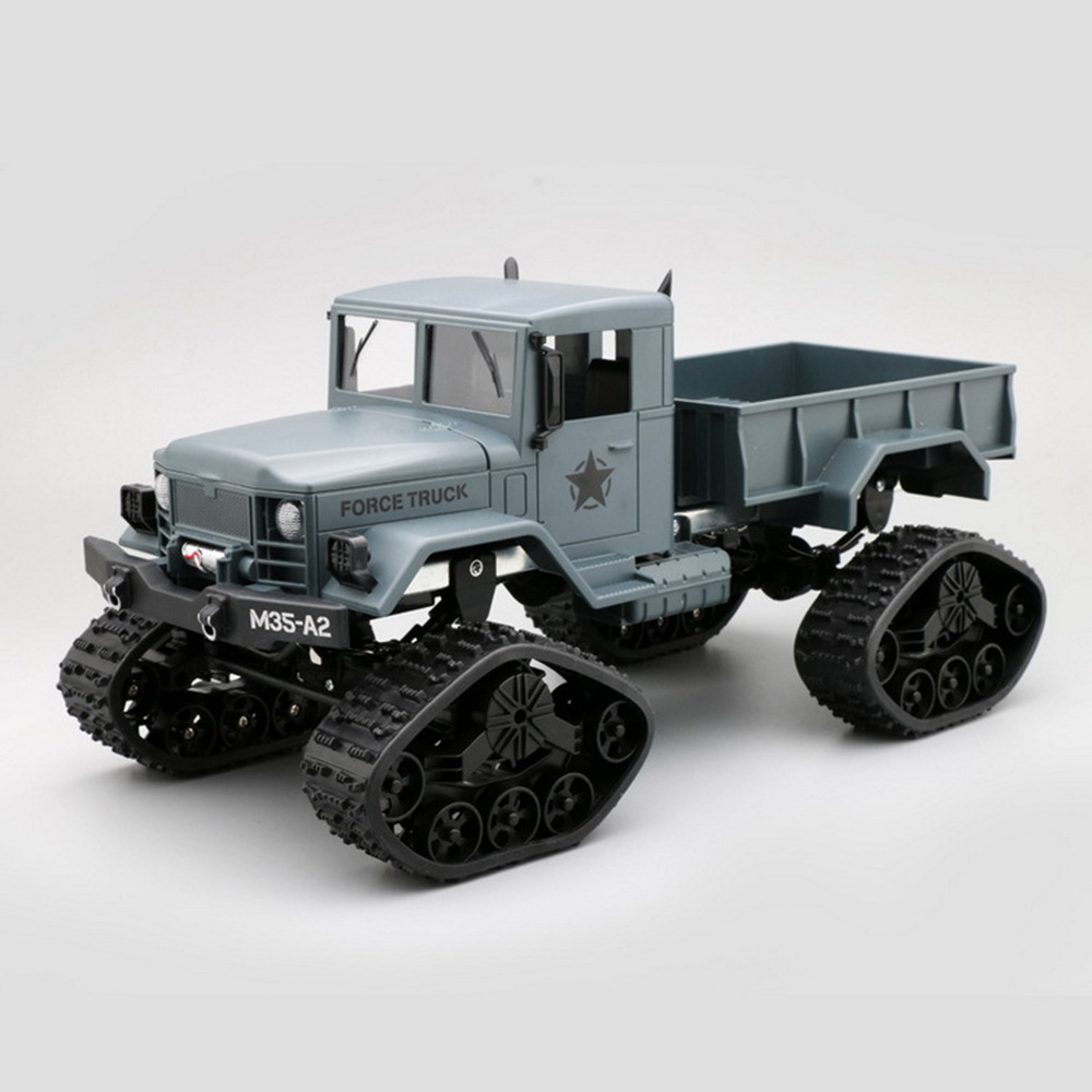 Wholesale FY001B RC Remote Control 2.4G Snow Road Car Military TacticalTruck Toy Blue