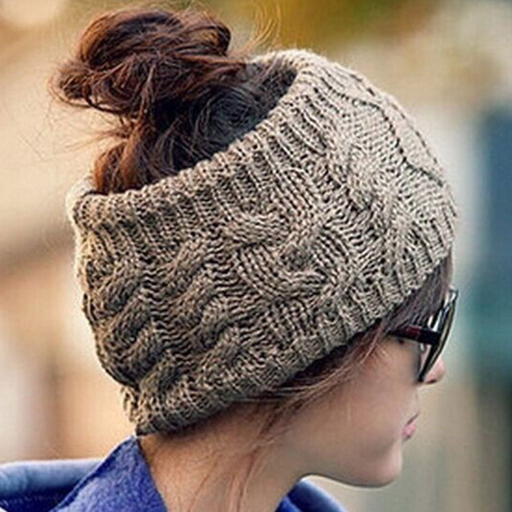 Women Crochet Headband Knit Wool Twist Hairband Winter Ear Warmer Headwrap