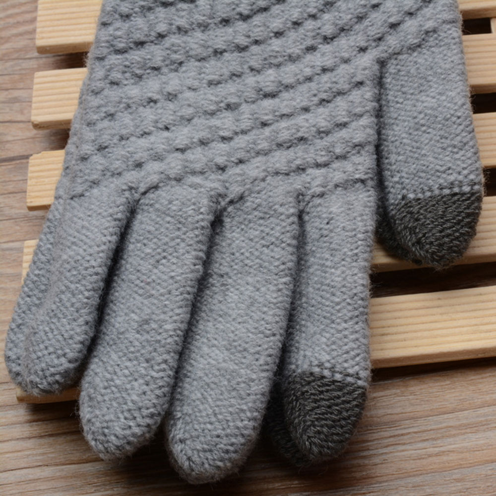 Women Fashion Cashmere TouchScreen Full FingerGloves Warm Windproof Mittens