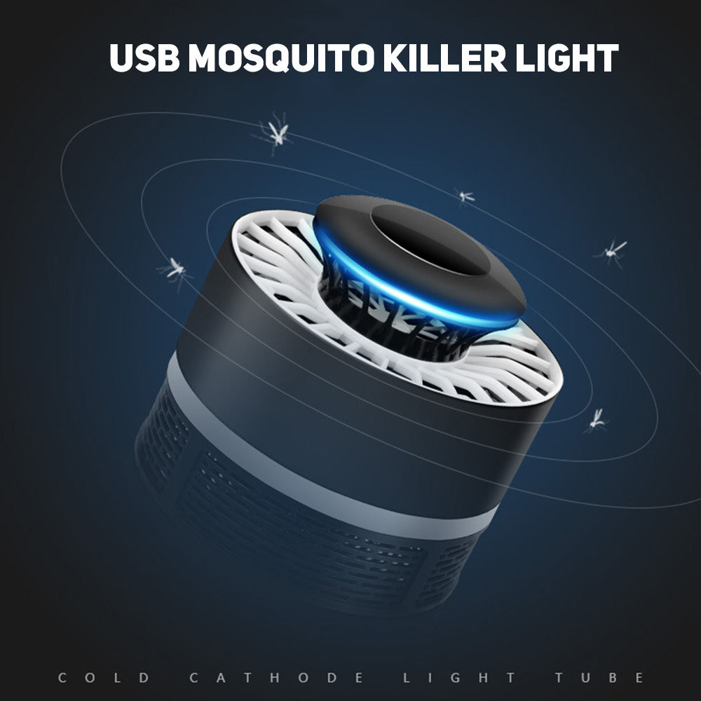Wholesale USB LED Electric Potocatalyst MosquitoTrap Killer Light BugZapper LampBlack
