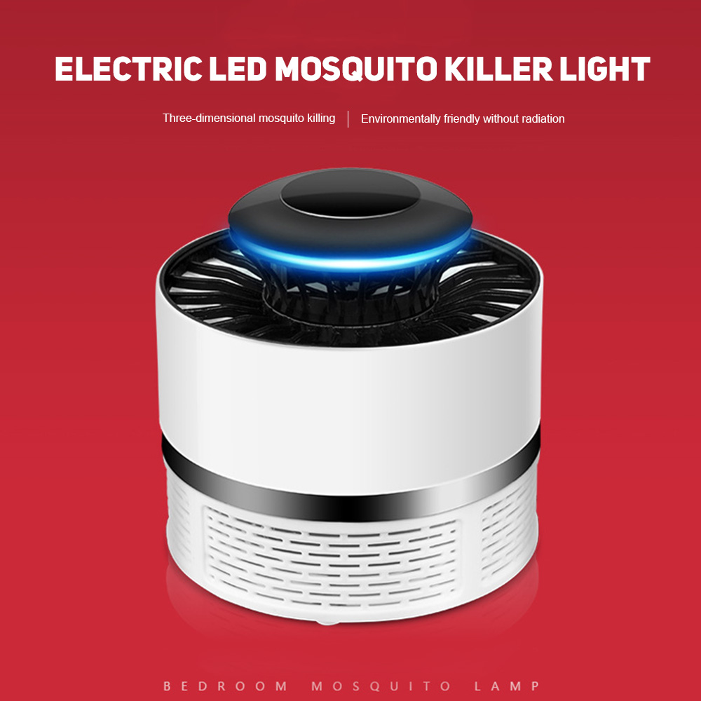 USB LED Electric Potocatalyst Mosquito Trap Killer Light Bug Zapper Lamp