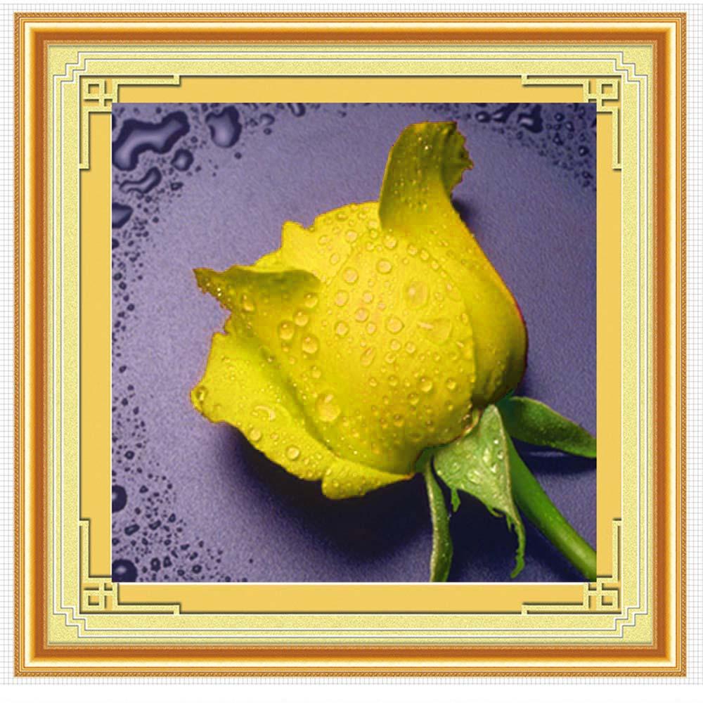 Wholesale 5D Diamond Rhinestone Painting DIY Waterdrop Rose Craft Crossstitch Yellow