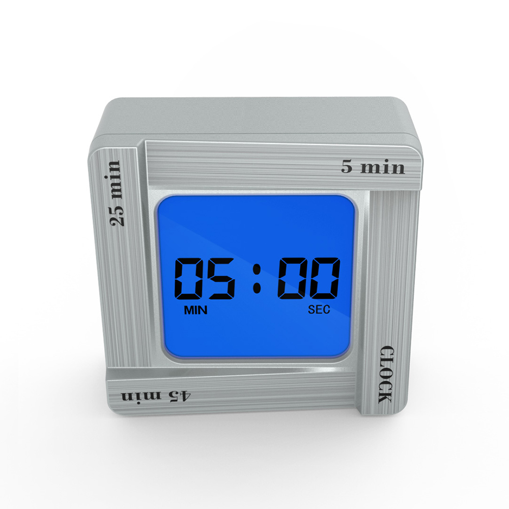 Digital Flip Alarm Clock Time Manager Reminder Vibration Countdown Timer