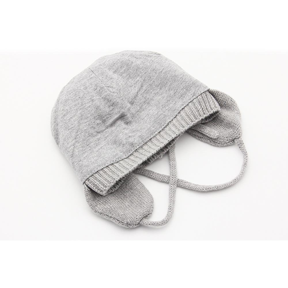 Wholesale Cute Baby Toddler Newborn Sof Cotton Knit Dual Layer Warm Earflap Hat Cap