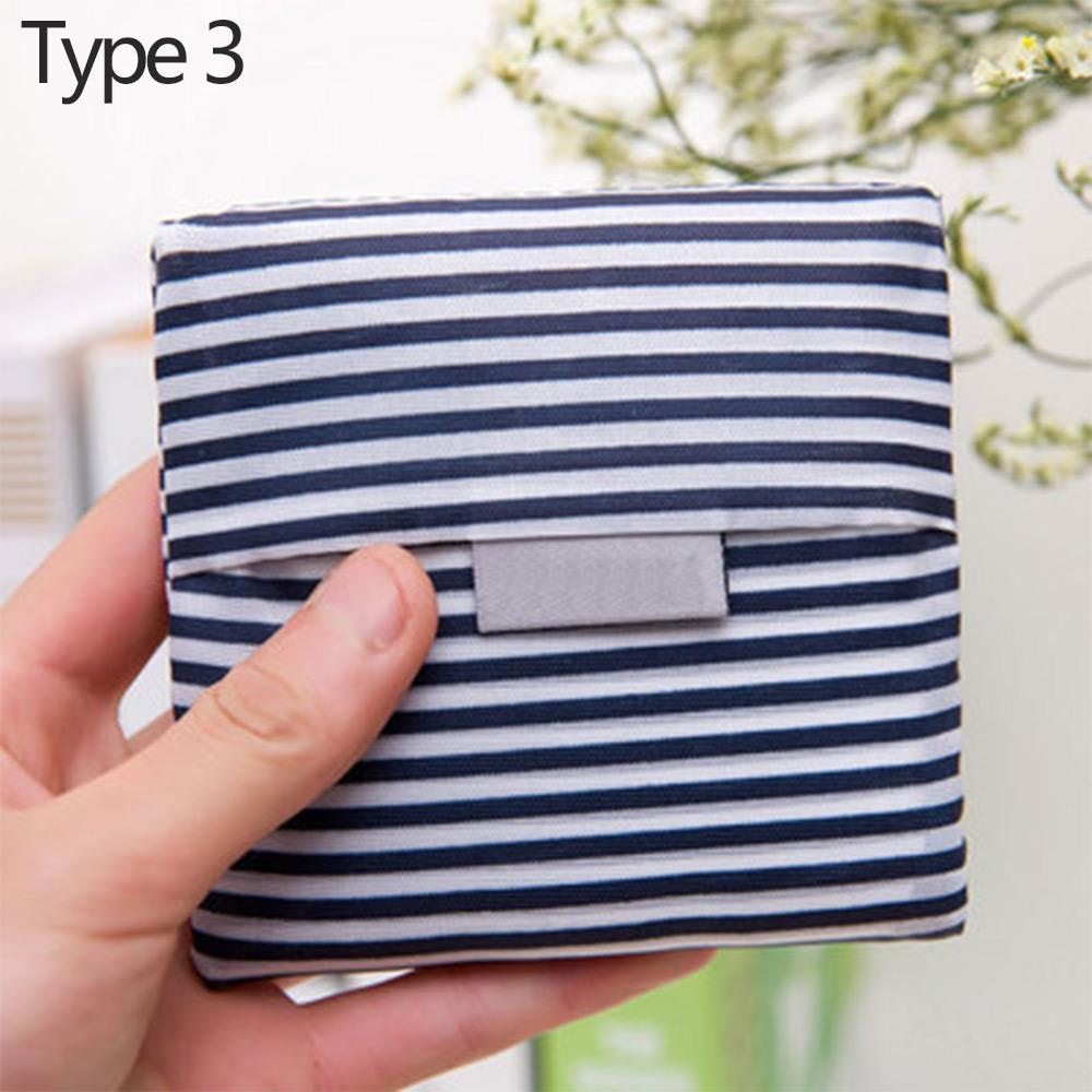 Wholesale Eco-friendly Reusable Foldable Shopping BagStorageHandbag Tote Pouch Type 3