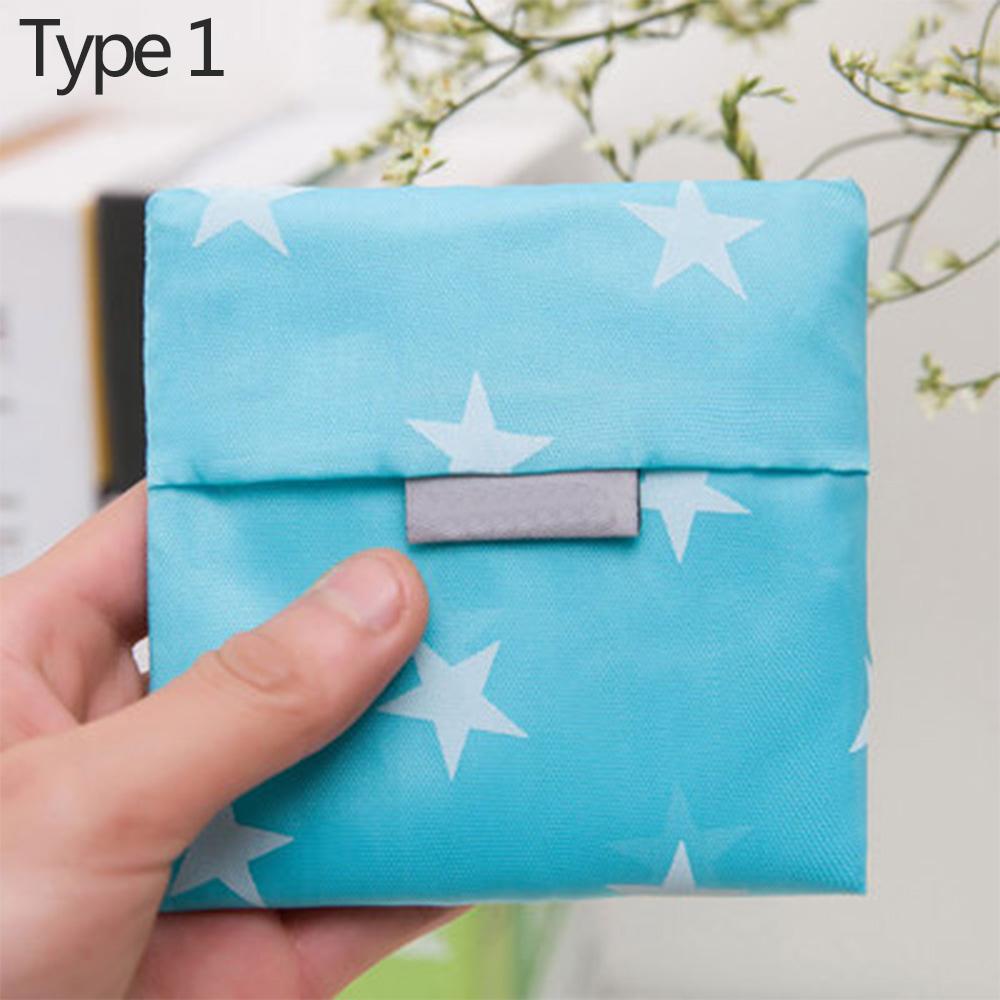 Wholesale Eco-friendly Reusable Foldable ShoppingBag StorageHandbag TotePouch Type 1