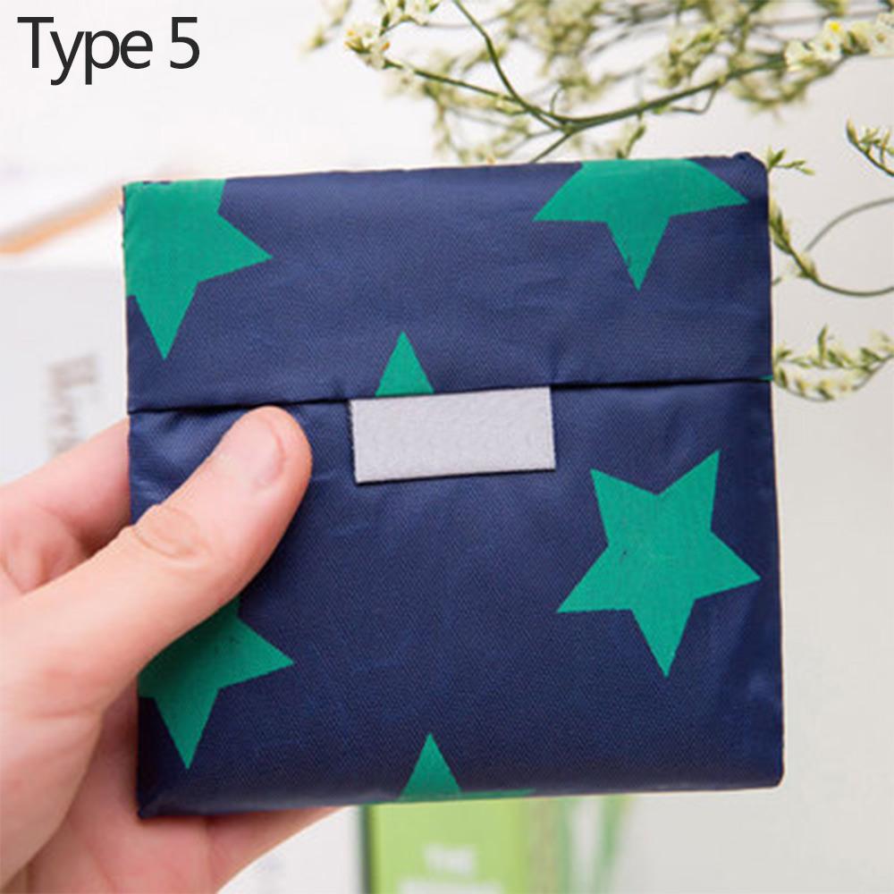 Wholesale Eco-friendlyReusable Foldable ShoppingBag Storage Handbag Tote Pouch Type 5
