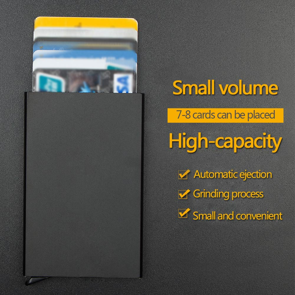 Portable Travel Aluminum Auto Pop-up Credit ID Card Passport Wallet BagCase