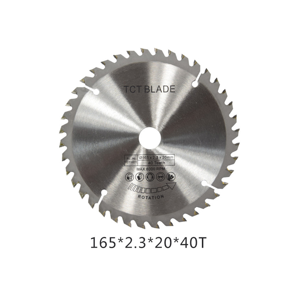 165mm 40T 20mm Bore Circular Saw Blade Disc for Wood Metal Cutter Tool