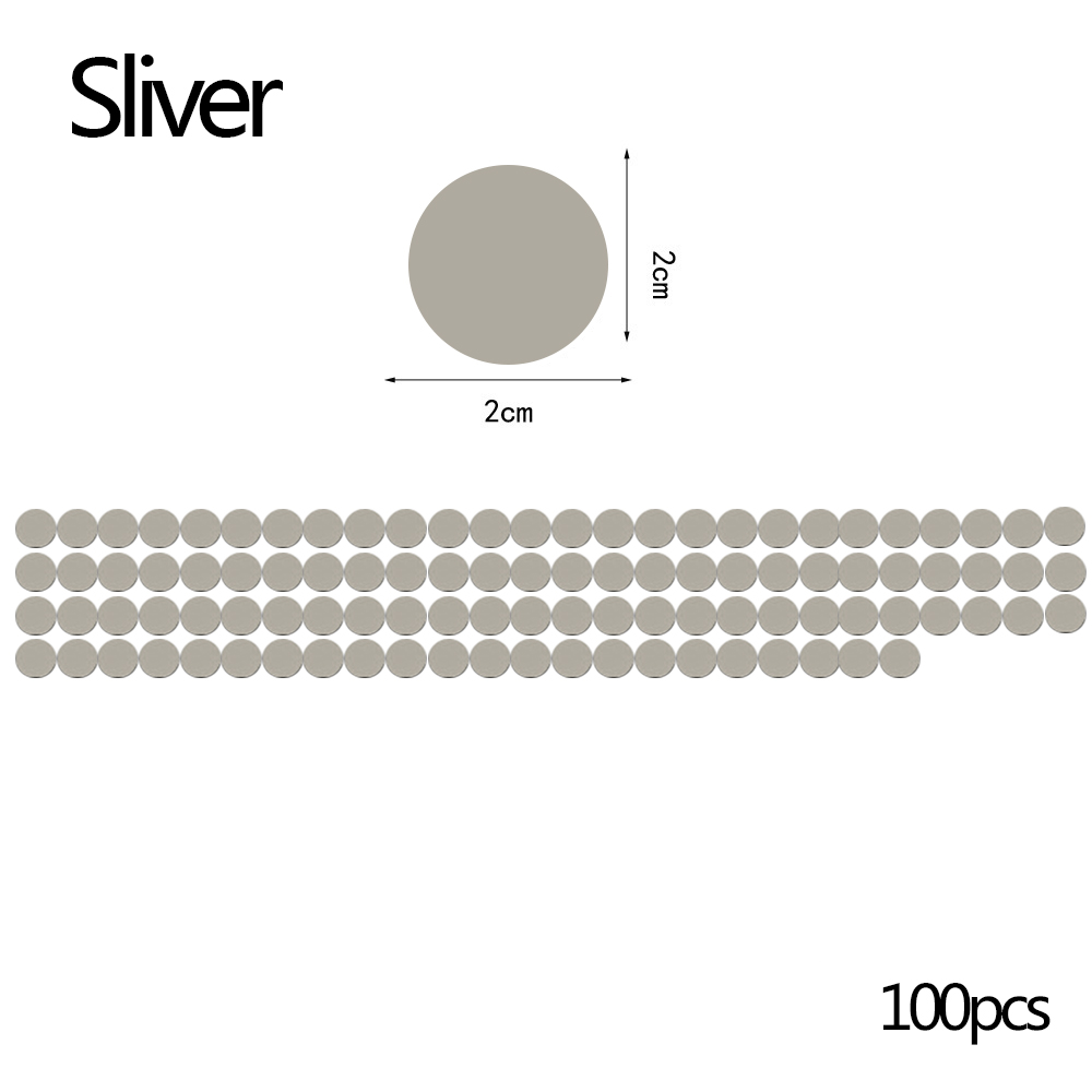 Wholesale 100pc 2cm Round 3D Mirror Wall StickerCeiling Living Room DecalDecor Silver