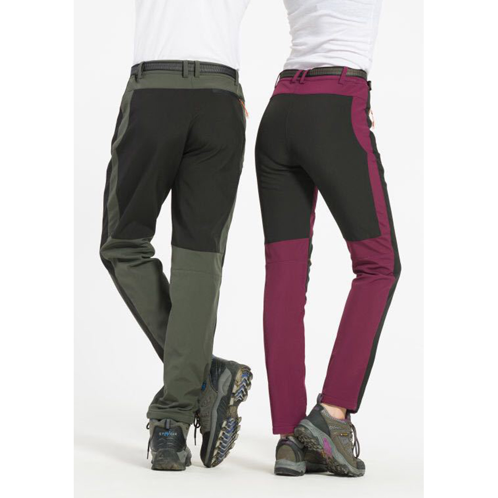 Plus Size Softshell Couple Waterproof Pants Hiking Climbing Fleece Trousers