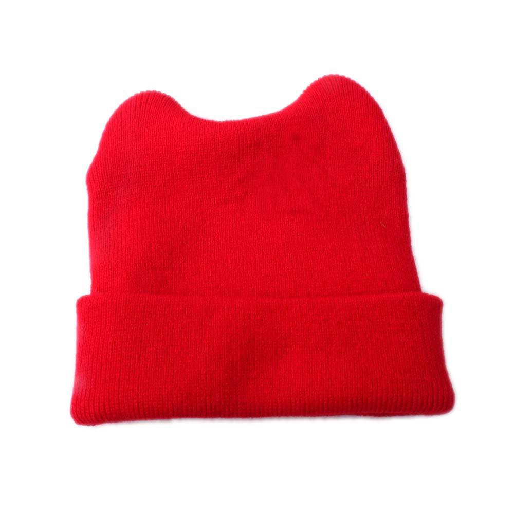 Wholesale Baby Toddler Kids Wool Knit Hat Autumn Winter Warm Bear Beanie Hedging Cap