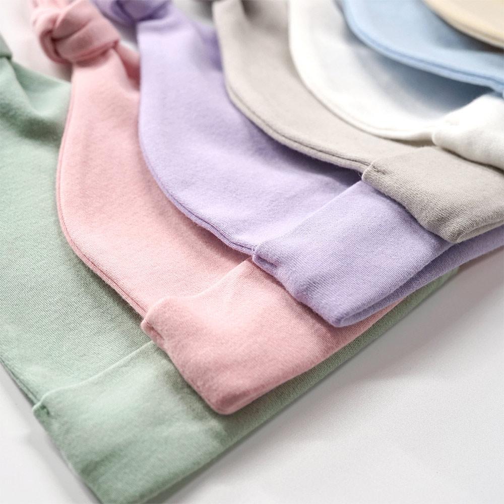 Wholesale Cute Newborn Toddler Baby Infant Knot Hat Cotton Soft Solid Beanie Cap