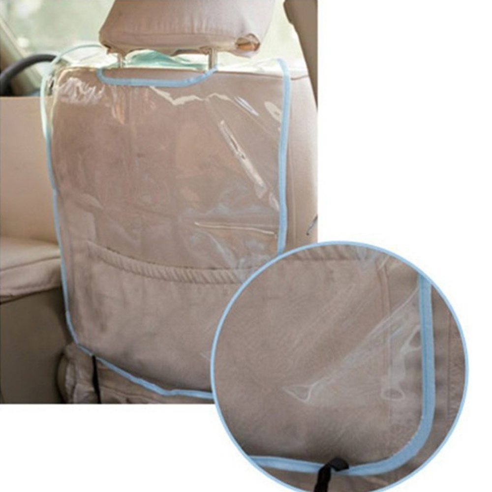 PVC Car Seat Back Cover Transparent Pad Anti Dirty Kick Guard Protector Mat