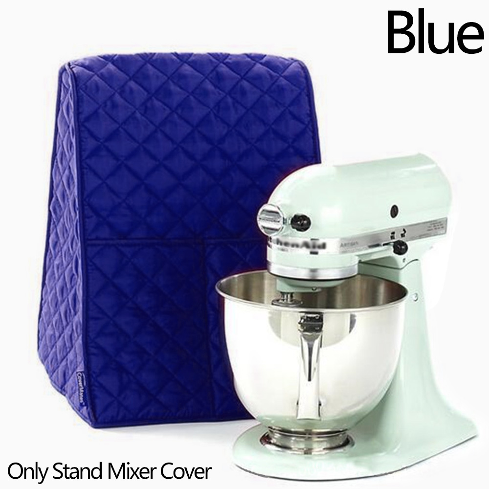 Wholesale Thicken Dustproof Stand Mixer Cover Waterproof W/Side Organizer Bag Blue