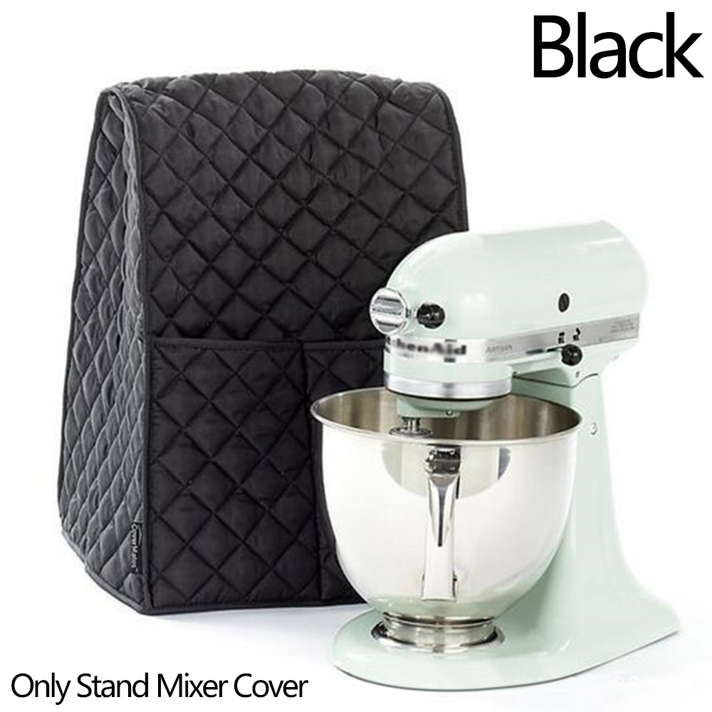 Wholesale Thicken Dustproof Stand Mixer Cover Waterproof W/Side Organizer Bag Black