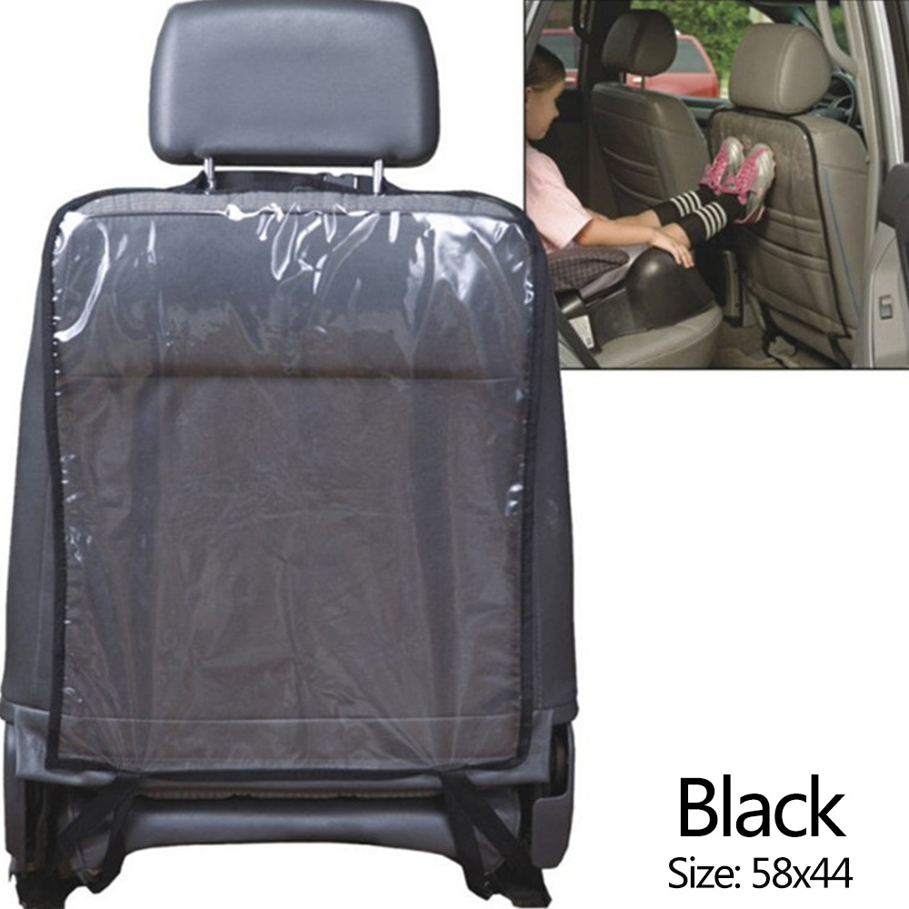 Wholesale Transparent Car Seat Back Cover Anti Dirty Kick GuardProtector Pad MatBlack