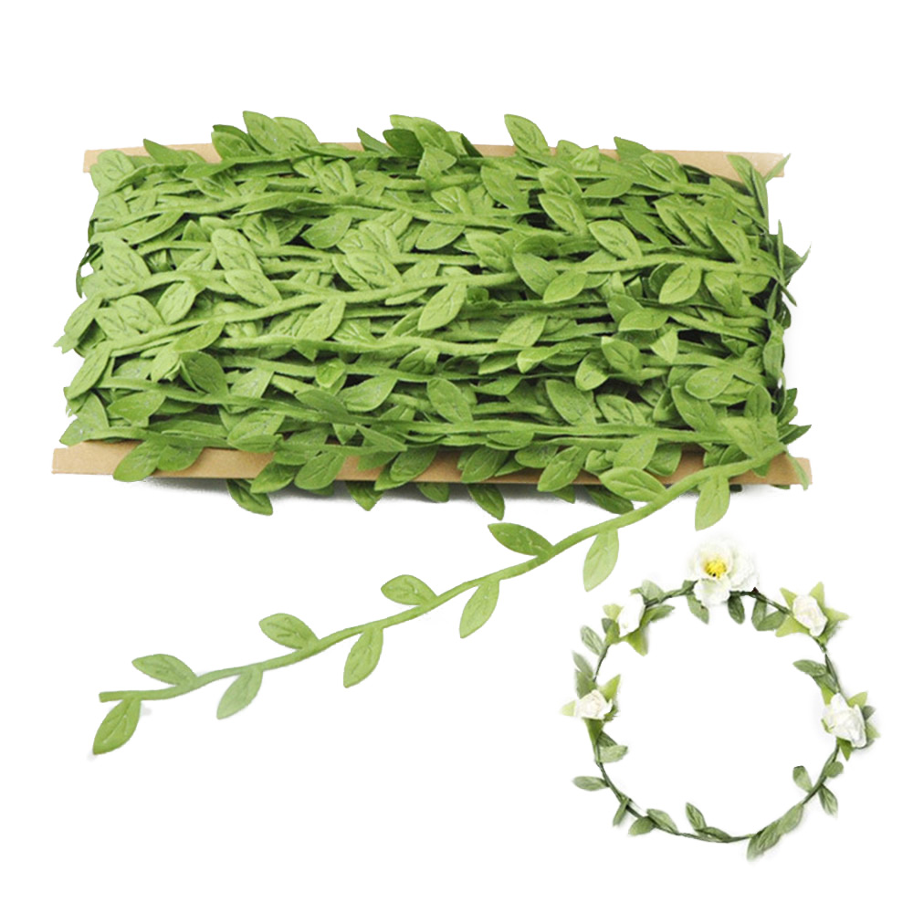 Artificial Fabric Leaf Garland Plants Vine Hanging Wedding Garland Decor