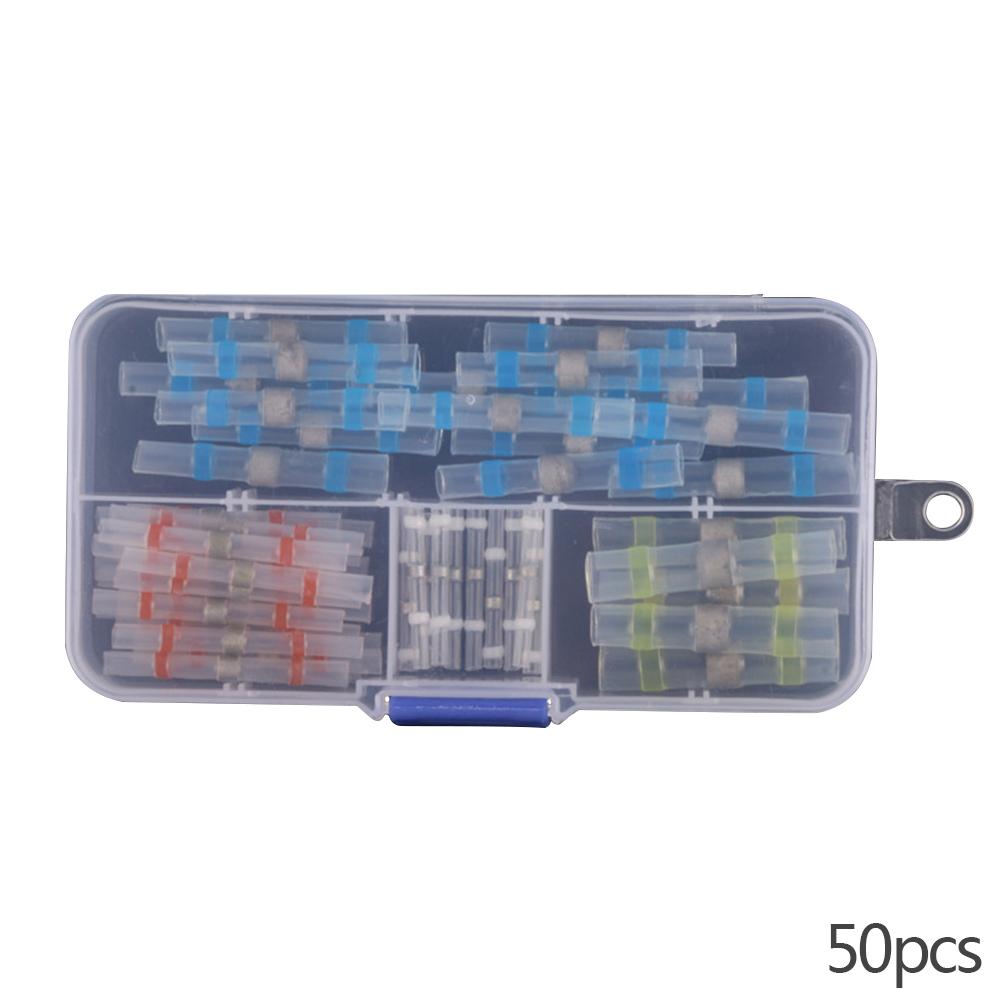 50/100pcs Solder Seal Wire Connector Solder Seal Heat Shrink Butt Terminals