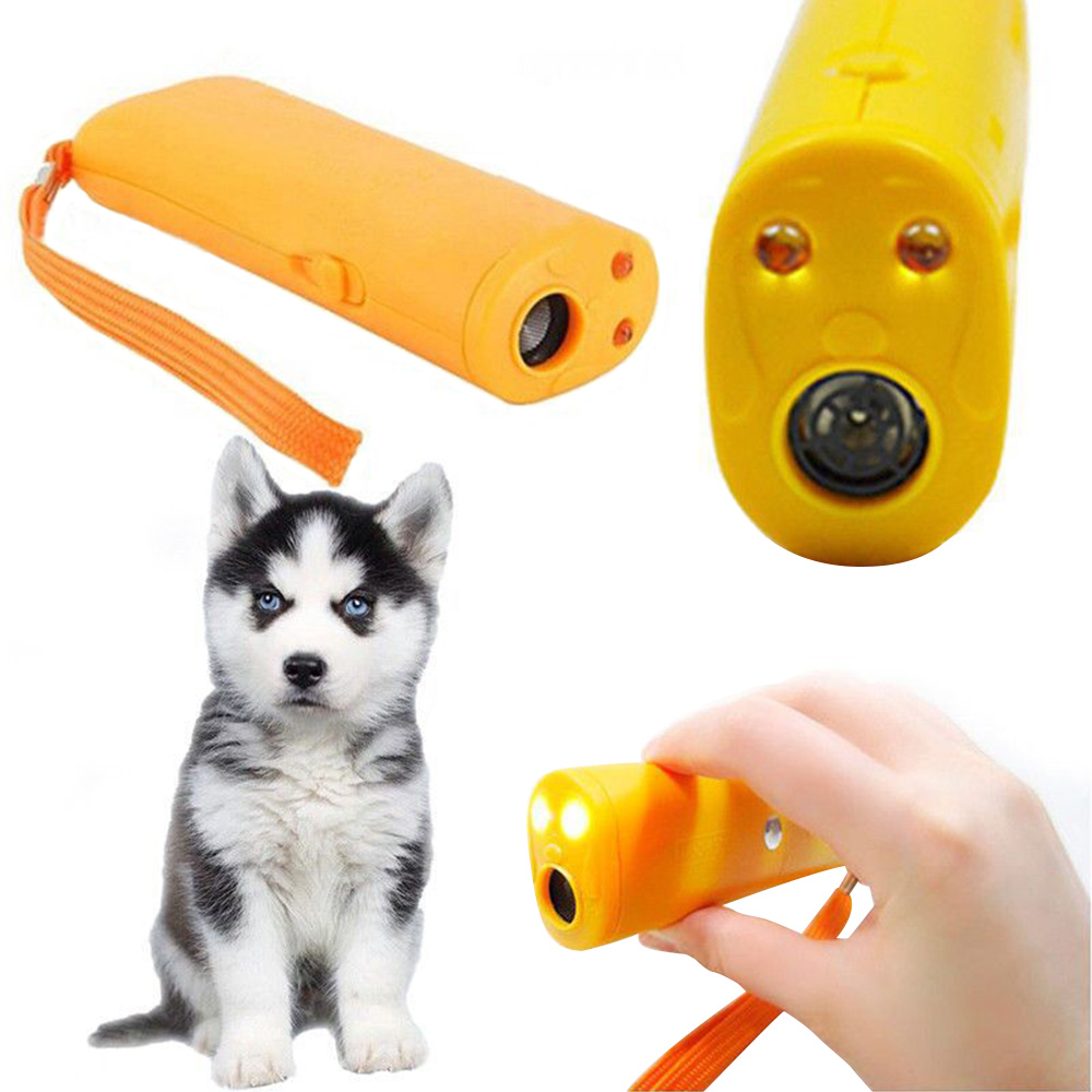 LED Ultrasonic Dog Repeller Trainer 3in1 Anti Barking DeviceTorchFlashlight