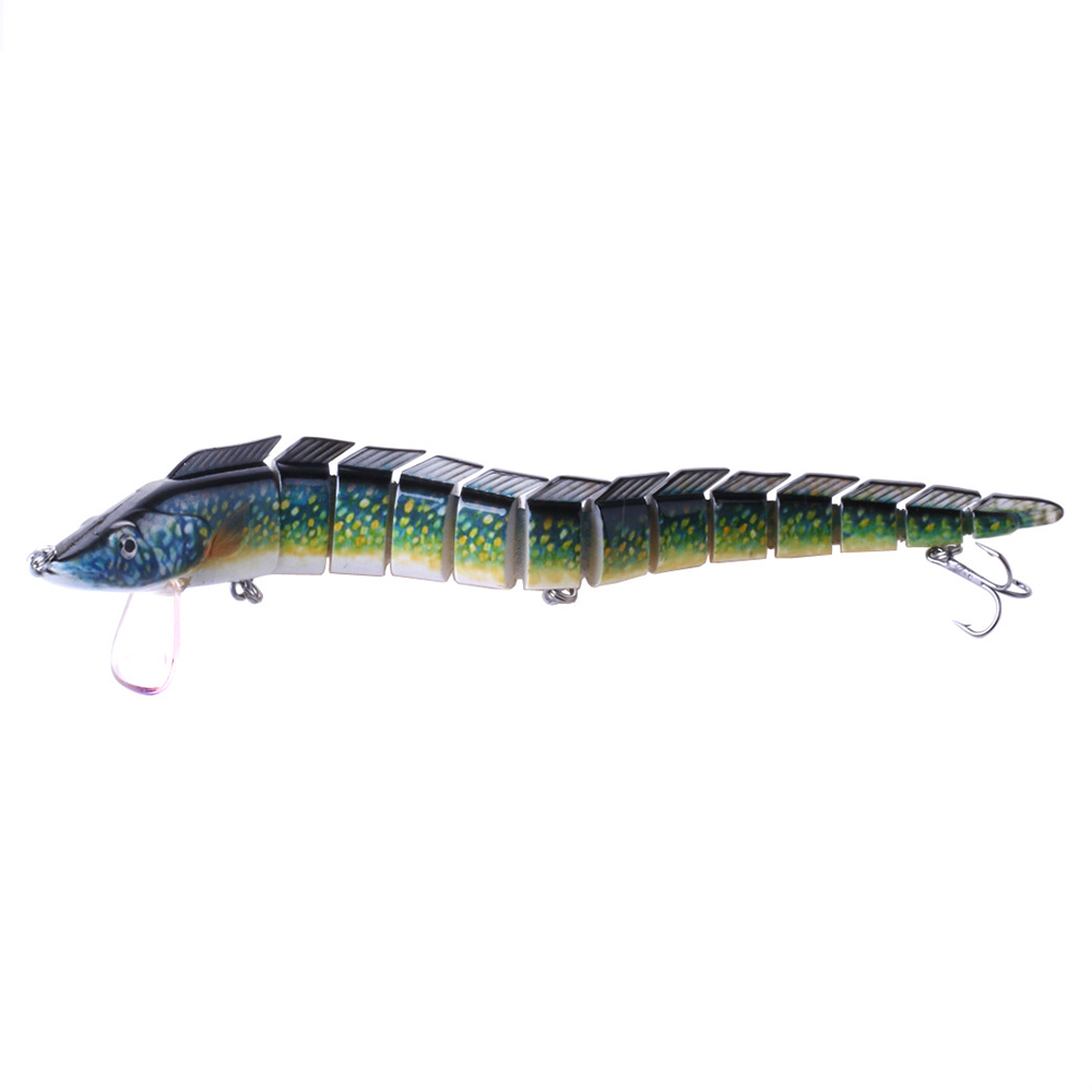 Multi-joint Pike Fishing Lure Bionic PlasticBait Swimbait Fishing Hook 23cm