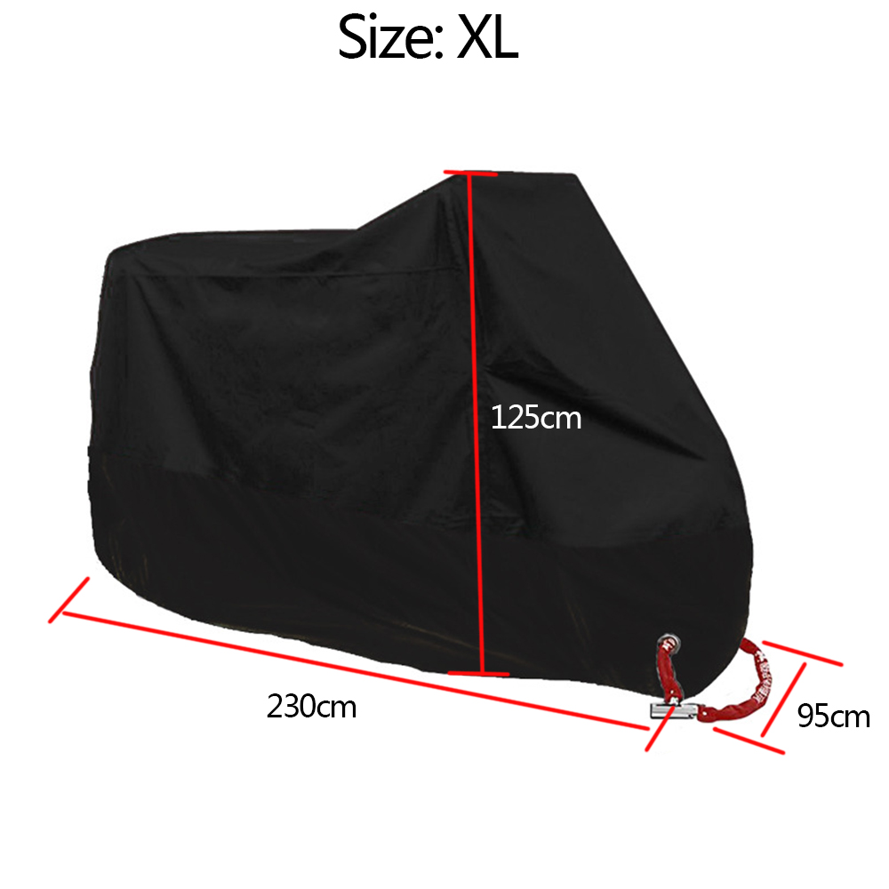 Waterproof Motorbike DustproofCover All WeatherProtection StorageShelter XL