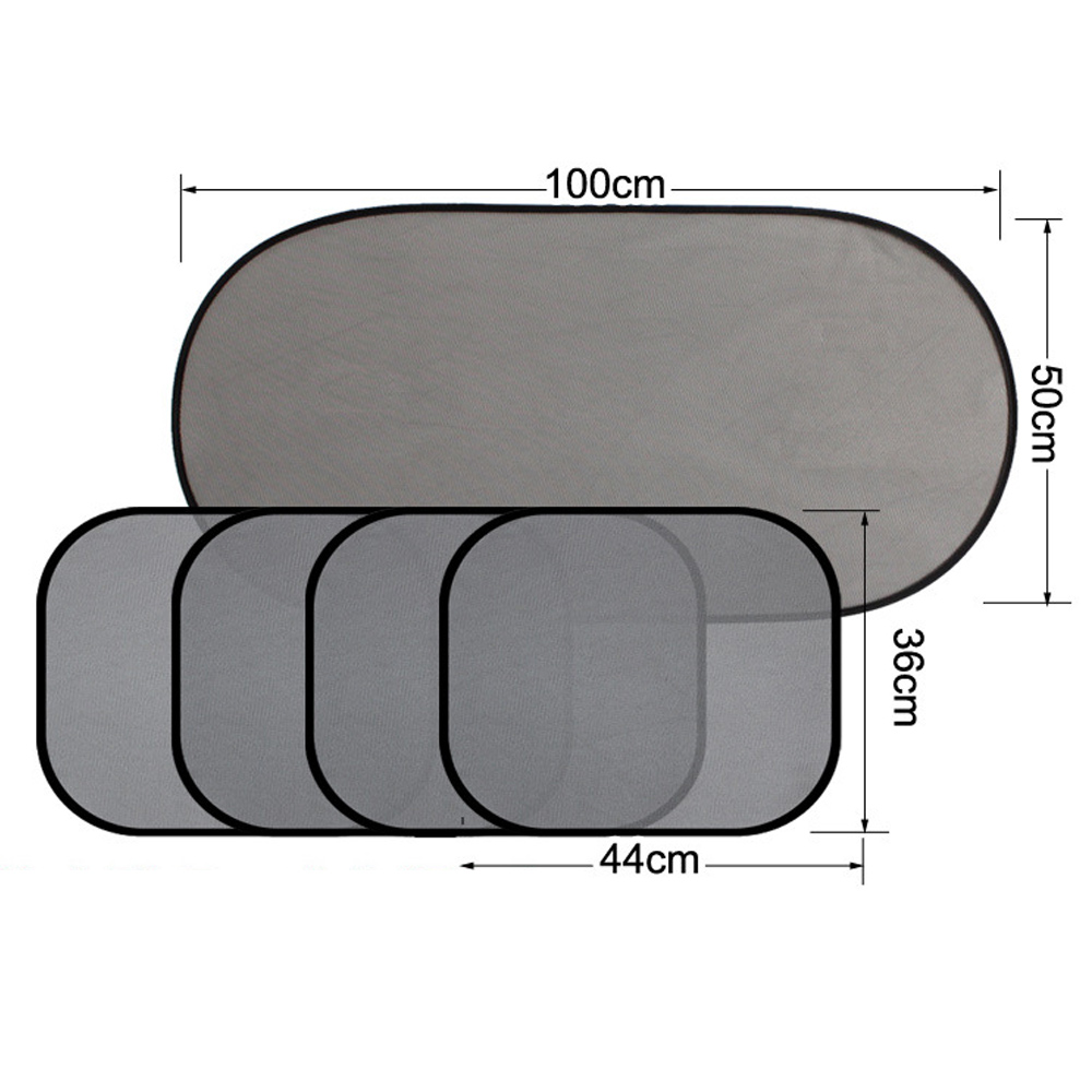 Car Window Sun Shades Cover Anti-UV Mesh Shade Curtain Protector 5pcs/set