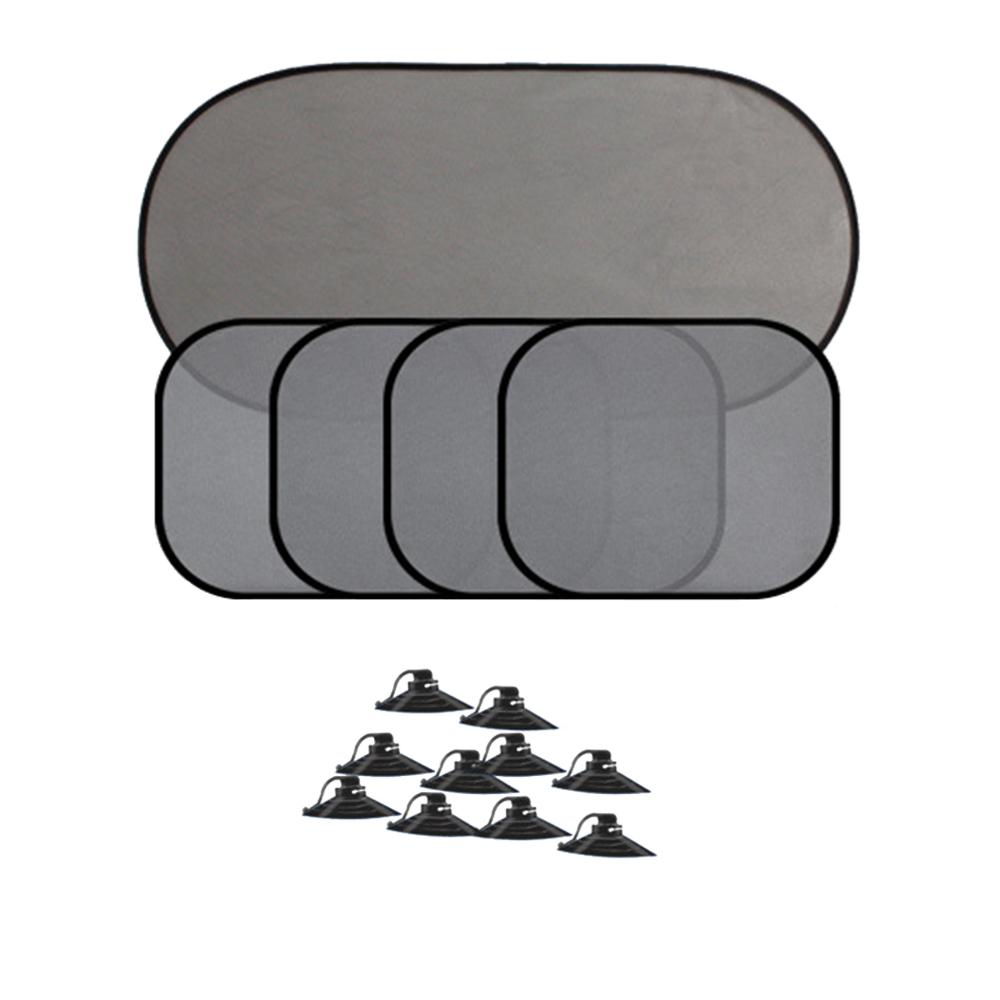 5x Car Window Sun Shades Cover Anti-UV Mesh Shade Curtain Protector Black