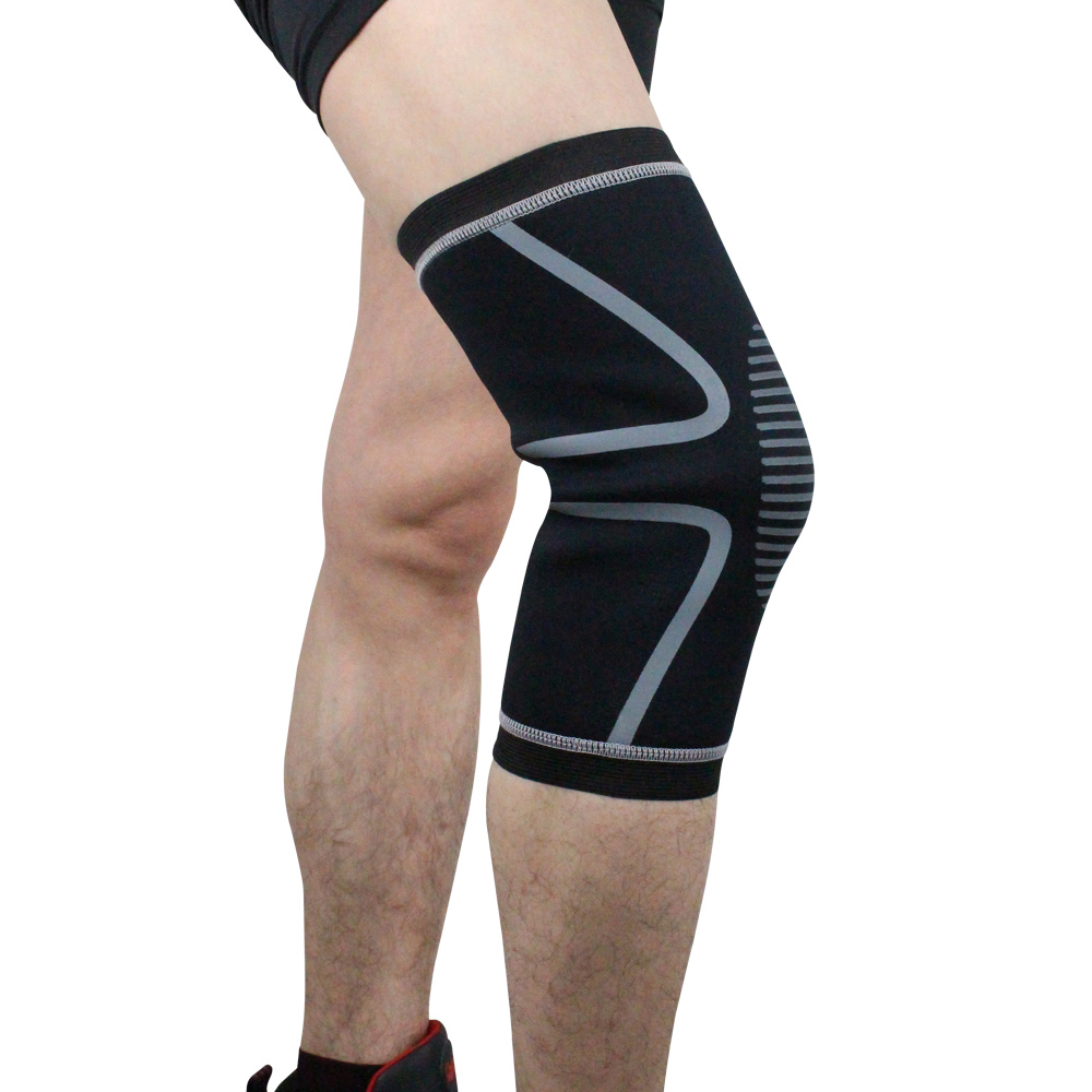 Wholesale Compression Knee Sleeve Brace for Pain Relief Volleyball Football Gray XL