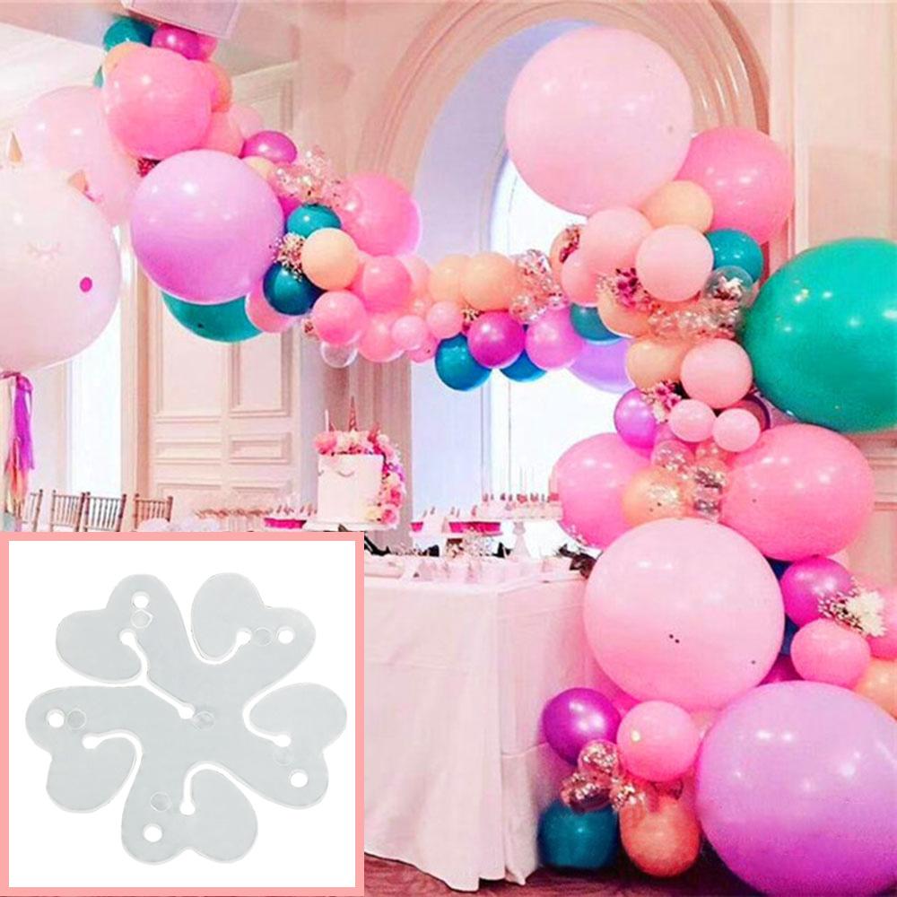 1//10stk DIY Blumenform Luftballons Clip Krawatten Blätter Hochzeit Party Dekor