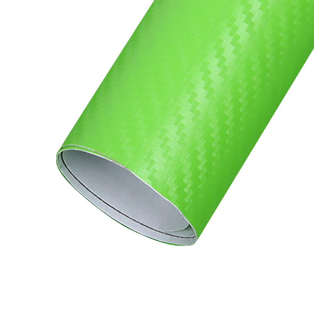 Wholesale Carbon Fiber Vinyl Film Car Wrap Roll Sticker Decal Sheet Green 127x10cm