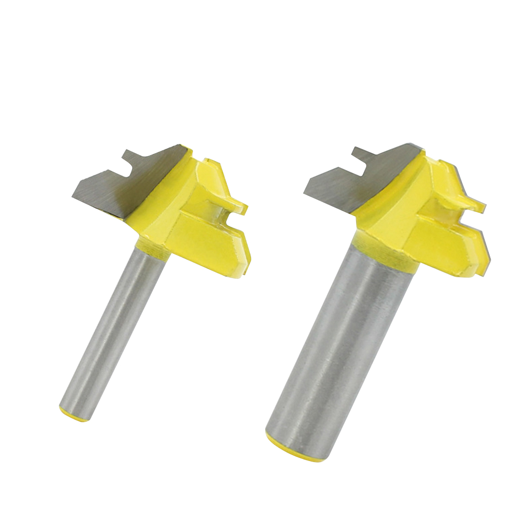 45Degree Lock Miter Router Bit Trimmer Milling Joint Tenon Woodwork Cutter