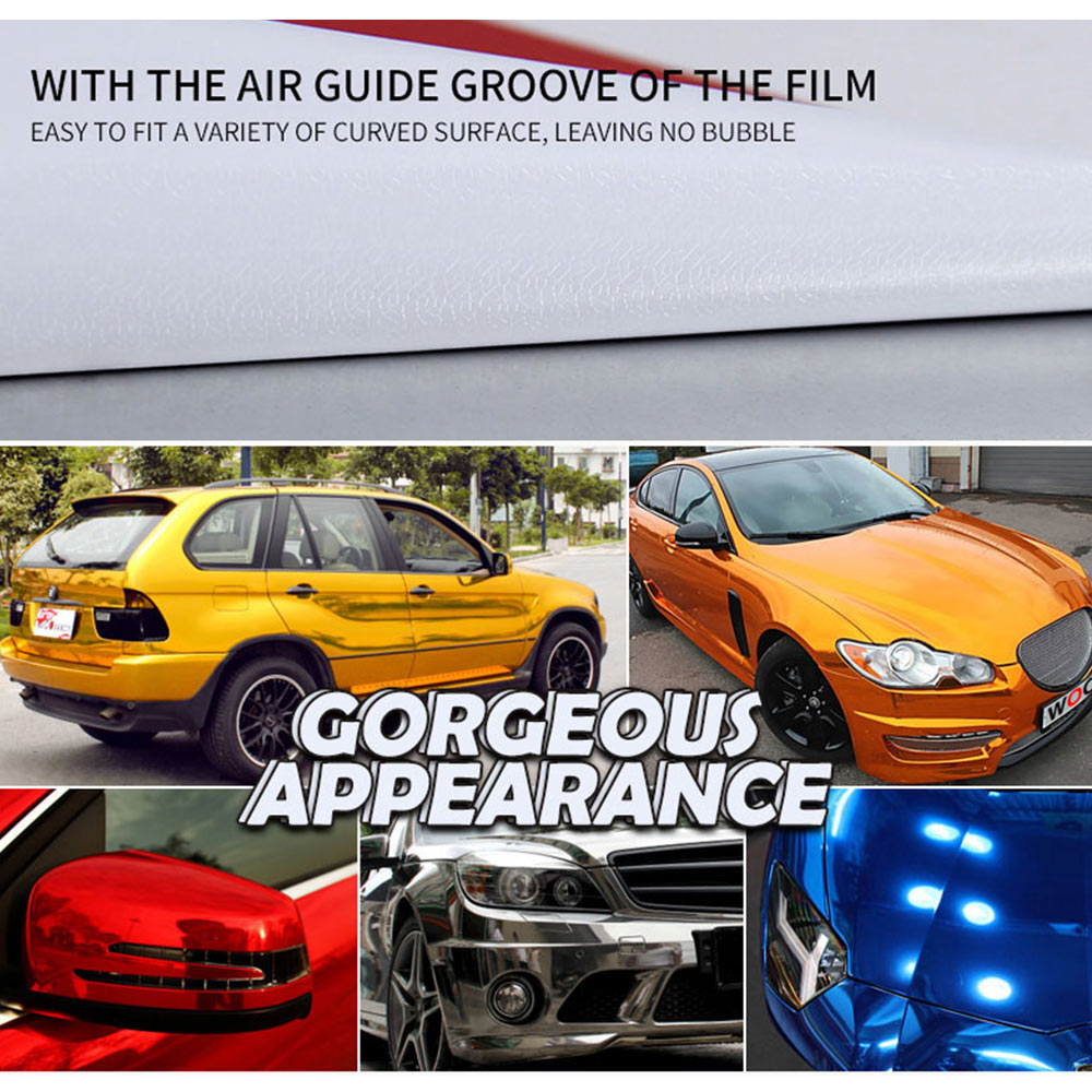 Details about mirror vinyl wrap film high gloss car plating sticker decal sheet 152x20cm nice